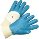 West Chester 4060 PIP Nitrile Dipped Glove with Interlock Liner and Smooth Finish on Palm, Fingers & Knuckles - Knit Wrist