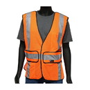 West Chester 47201 Viz-Up ANSI Type R Class 2 Three Pocket Expandable Mesh Breakaway Vest