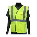 West Chester 47203 Viz-Up ANSI Type R Class 2 Value Four Pocket Solid Vest
