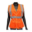 West Chester 47208 Viz-Up ANSI Type R Class 2 Woman's Contoured Mesh Vest with Adjustable Waist