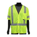 West Chester 47308 Viz-Up ANSI Type R Class 3 Three Pocket FR Treated Mesh Vest
