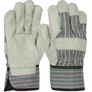 West Chester Grain Leather Palm Rubberized Cuff Gloves