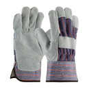West Chester 558F Split Cowhide Leather Palm Glove with Fabric Back & Fleece Lining - Rubberized Safety Cuff
