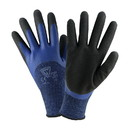 West Chester 713BLDD Seamless Knit Polyester Glove, 3/4 Dipped with Sandy Foam Latex Coated Grip on Palm & Fingers