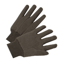 West Chester 750 Knit Wrist Brown Jersey Plastic Dotted Glove - Poly/Cotton