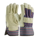West Chester 87-3501 PIP Economy Grade Top Grain Pigskin Leather Palm Glove with Fabric Back - Safety Cuff