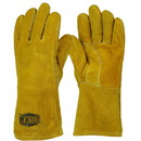 West Chester 9040-LHO Ironcat Select Shoulder Split Cowhide Leather Welder's Glove with Cotton Foam Liner and Kevlar Stitching - Left Hand Only