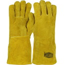 West Chester 9040 Ironcat Select Shoulder Split Cowhide Leather Welder's Glove with Cotton Foam Liner and Kevlar Stitching