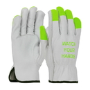 West Chester 990IKGT Fluorescent Green Finger Tips w/Logo