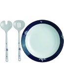 Whitecap 15008 Salad Bowl and Cutlery