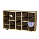 Contender C14502F-C5 20 Tray Storage w/Chocolate Trays; Assembled w/Casters