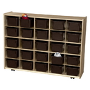 Contender C16002F-CF 25 Tray Storage w/Chocolate Trays; Assembled w/Casters