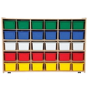 Contender C16033F-C5 30 Tray Storage w/Assorted Trays, Assembled w/Casters