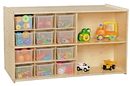 Contender C16601F Double Mobile Storage with 12 Translucent Trays | Fully Assembled