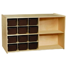 Contender C16602 Double Mobile Storage w/12 Chocolate Trays-RTA