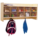 Contender C51401F Wall Hanging Cubby Storage w/10 Translucent Trays, Assembled