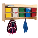 Contender C51403 Wall Hanging Cubby Storage w/10 Assorted Trays