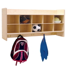 Contender C51409F Wall Hanging Cubby Storage without Trays, Assembled