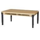 Wood Designs HPL1848DSKHPLA1217 Two Seat Desk with Adjustable Legs 12