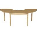 Wood Designs HPL2264HCRCHPL26 Half Circle High Pressure Laminate Table with Hardwood Legs- 26