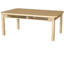 Wood Designs HPL3648DSKHPL14 Four Seat Student Desk with 14