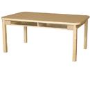 Wood Designs HPL3648DSKHPL16 Four Seat Student Desk with 16