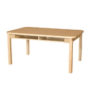Wood Designs HPL3648DSKHPL18 Four Seat Student Desk with 18