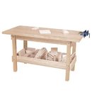 Wood Designs WD13401 Workbench with (4) Translucent Trays and Wood , 25.00