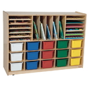Wood Designs WD14003 Multi-Storage with (15) Assorted Trays , 38.00