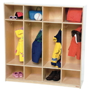 Wood Designs WD15000 4 Section Locker , 49.00