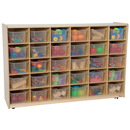 Wood Designs WD16031 30 Tray Storage with Translucent Trays , 38.00