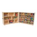 Wood Designs WD23601 Tray &Shelf Fold Storage with (25) Translucent Trays , 38.00