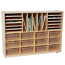 Wood Designs WD44001 Multi-Storage with (12) Translucent 5