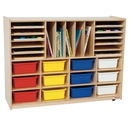 Wood Designs WD44003 Multi-Storage with (12) Assorted 5