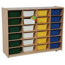 Tip-Me-Not WD46003 (24) Large Tray Storage with 24 Assorted 5