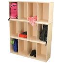 Wood Designs WD46430 Open Stack Locker - Three Units