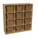 Natural Environments WD50912-719 (12) Cubby Storage with Medium Baskets , 49.00