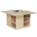 Wood Designs WD85001 Cubby Table with (12) Translucent Trays , 20.00