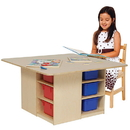Wood Designs WD85003 Cubby Table with (12) Color Trays , 20.00