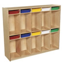 Wood Designs WD990314AT 10 Section Locker with Assorted Trays , 49.00