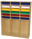 Wood Designs WD990343AT Cubby Locker with Assorted Trays