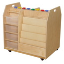 Wood Designs WD990685CT Trolley Art Cart with Translucent Trays , 36.00
