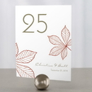 Weddingstar 1001-06 Autumn Leaf Table Number
