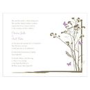 Weddingstar Romantic Butterfly Invitation
