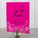 Weddingstar 1039-06 Contemporary Hearts Table Number