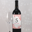 Weddingstar 1070-31 Reef Coral Table Number Wine Label