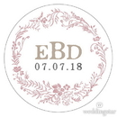 Weddingstar 1082-15-d02-c24 Modern Fairy Tale Small Sticker - Floral Wreath Mocha Mousse
