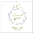 Weddingstar 1084-01 Botanical Wreath Square Tag