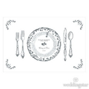 Weddingstar 1085-131-d01-c44 Antique Chic Personalized Paper Place Mat - Table Setting Charcoal