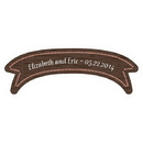 Weddingstar 1123-22 Wood Banner Love Bird Coaster Personalized Sticker